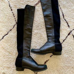Stuart weitzman 5050 over knee boot, black leather